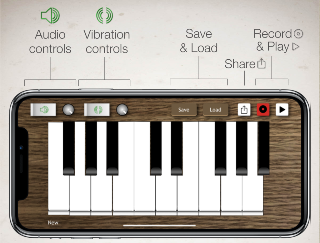 Music Vibes released for iOS - Piano App for the Deaf Image